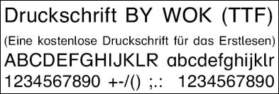 druckschrift by wok
